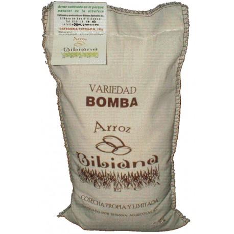 Arroz Bomba, saco de 1 Kg.