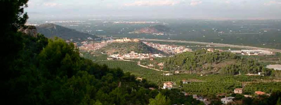 Vista de Corbera desde el monte